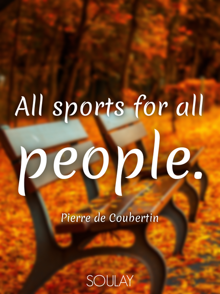 All sports for all people. (Poster)