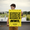 Our knowledge can only be finite, while our ignorance must necessar... - 18x24 Poster