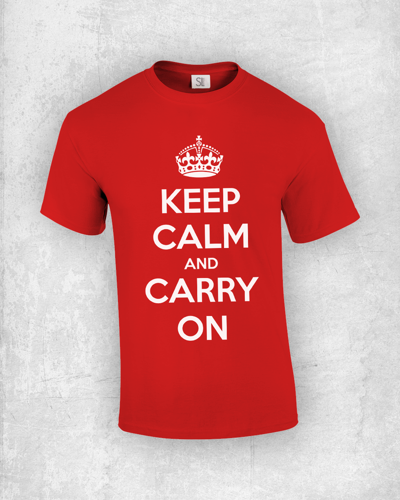 keep calm t shirt maker soulay