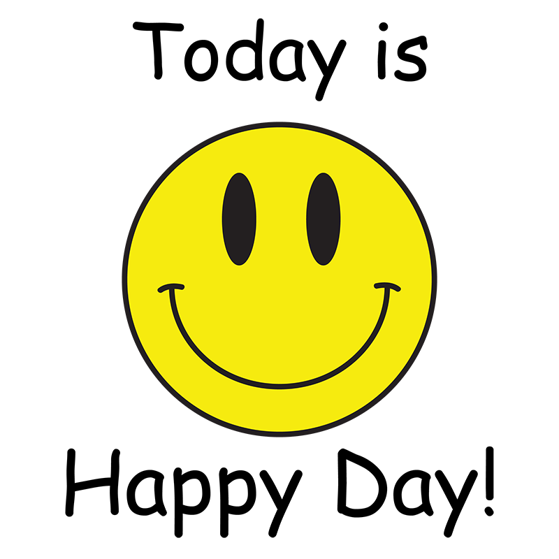 Today Is Happy Day Smiley T Shirt Soulay