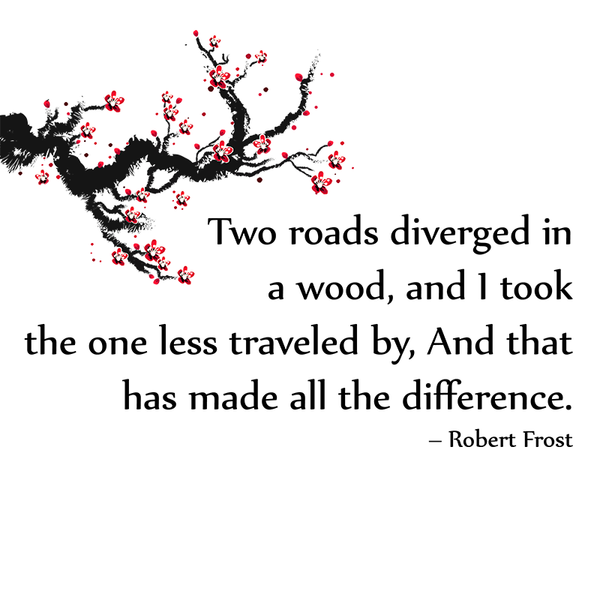 Two roads diverged in a wood, and I took the one less ...