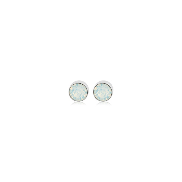 Eden Earrings White Opal