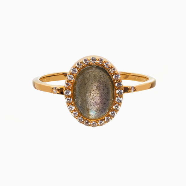 Rachel Gemstone Ring - Labradorite