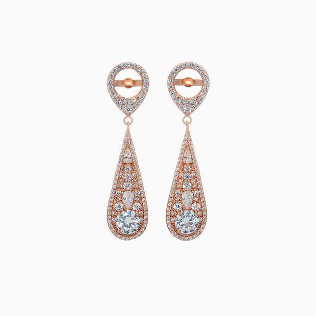 Annie Earring Jacket and Esme Crystal Stud Set