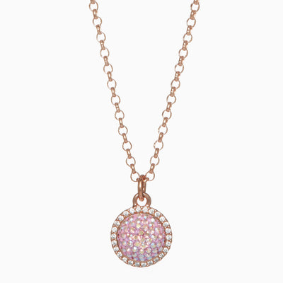 Blush Sparkle Ball™ Halo Necklace Pendant