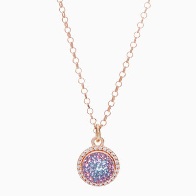 Hydrangea Sparkle Ball™ Halo Necklace Pendant