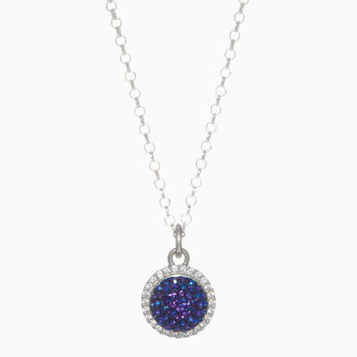 Lapis Sparkle Ball™ Halo Necklace Pendant