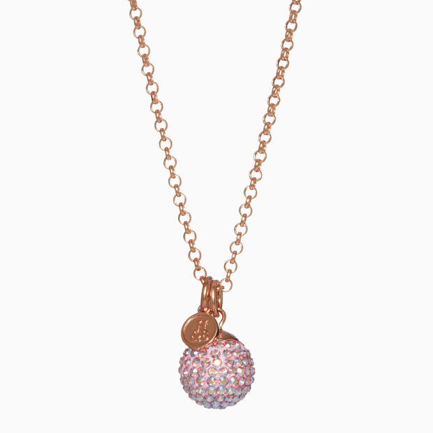 Blush Sparkle Ball™ Long Necklace Pendant