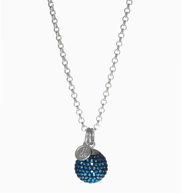 Midnight Sparkle Ball™ Long Necklace Pendant