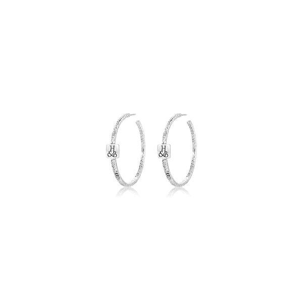 Signature Hammered Hoops