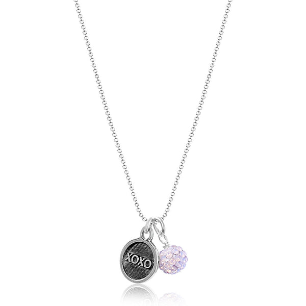 Cleo Sparkle Necklace Rose Water Opal