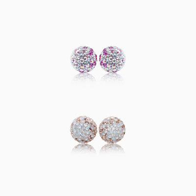 Sparkle Ball™ Stud Set 10mm Pink Fade/Champagne Fade