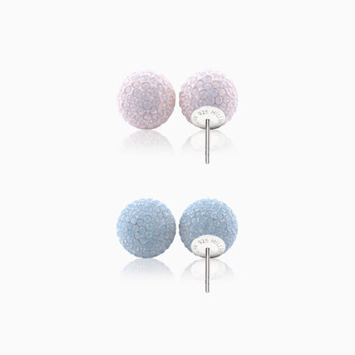 Sparkle Ball™ Stud Set 12mm Blue Opal/Rose Water Opal