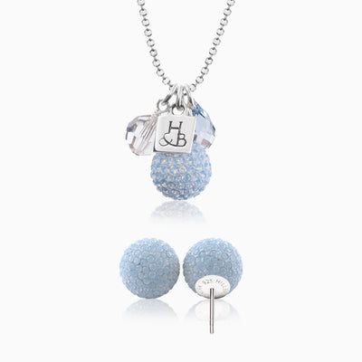 Sparkle Ball™ 12mm Stud and Necklace Cluster Set