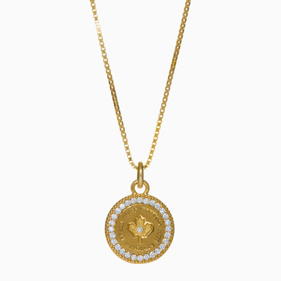 Canada Proud Pavé Pendant Necklace - Gold