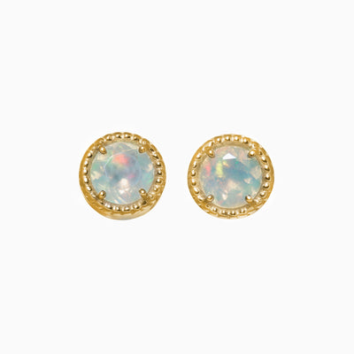 5mm Opal Stud Earrings in 14K Gold