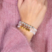 Lisa Gemstone Bracelet - Rose Quartz