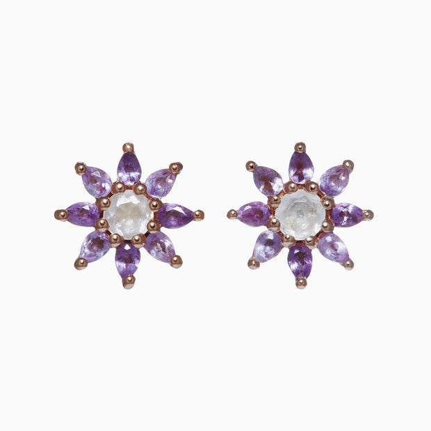 Gemstone Flower Earrings - Primrose