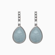 Jolene Gemstone Earring Jacket - Aquamarine