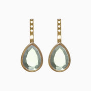 Jolene Gemstone Earring Jacket - Green Amethyst