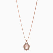 Rachel Gemstone Necklace - Rose Quartz