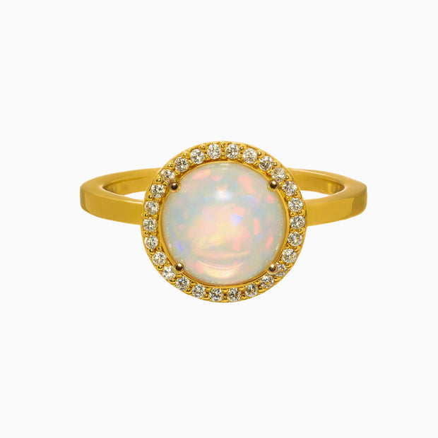 Lisa Gemstone Ring - Opal