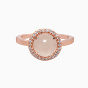 Lisa Gemstone Ring - Rose Quartz