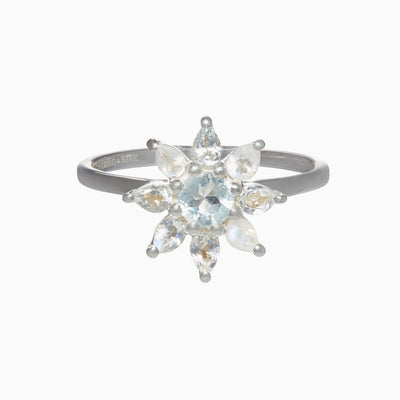 Gemstone Flower Ring - Orchid