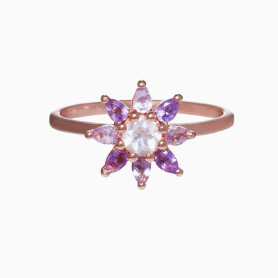 Gemstone Flower Ring - Primrose
