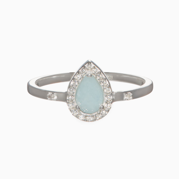 Holly Gemstone Ring - Aquamarine