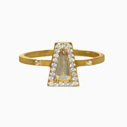 Kristen Gemstone Ring - Green Amethyst