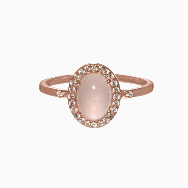 Rachel Gemstone Ring - Rose Quartz
