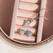 Sparkle Sweetheart Necklace and Stud Set