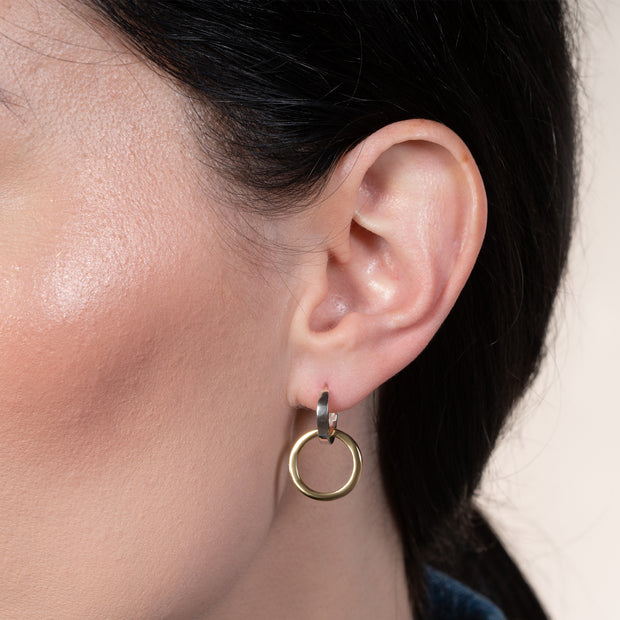 Canada Proud Double Hoop Earrings