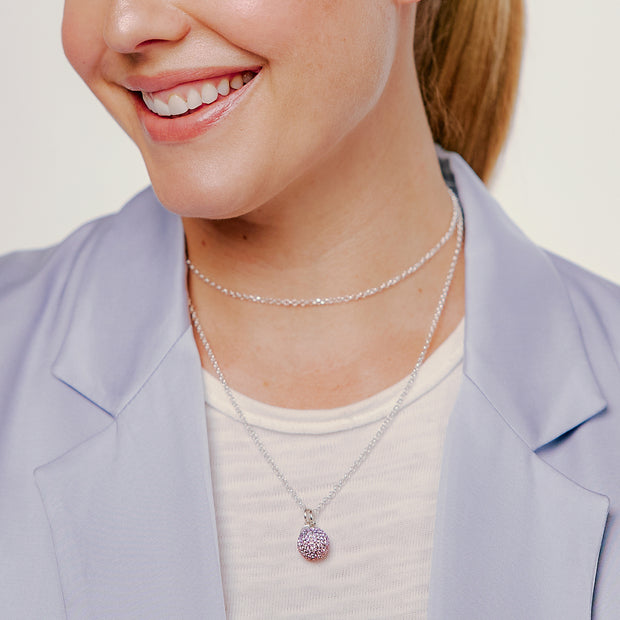 Lavender Sparkle Ball™ Long Necklace Pendant