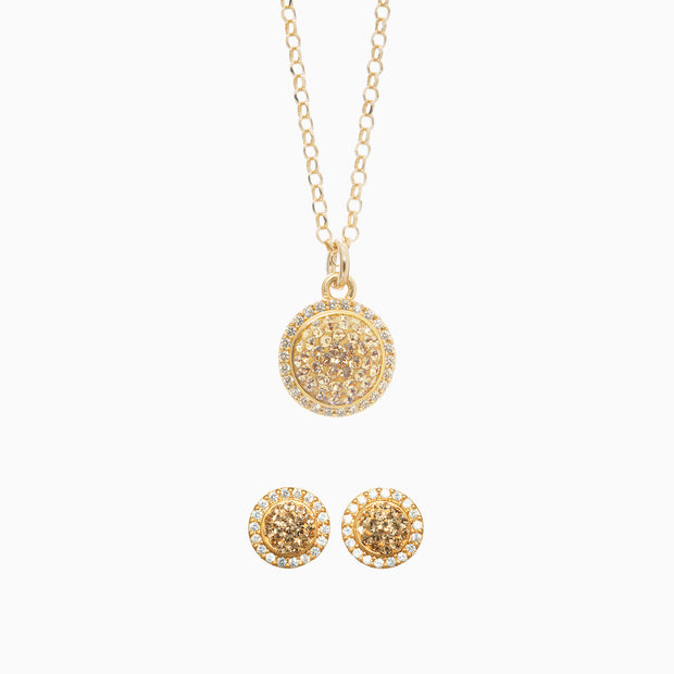 Sparkle Ball™ Halo Necklace and Earrings Set