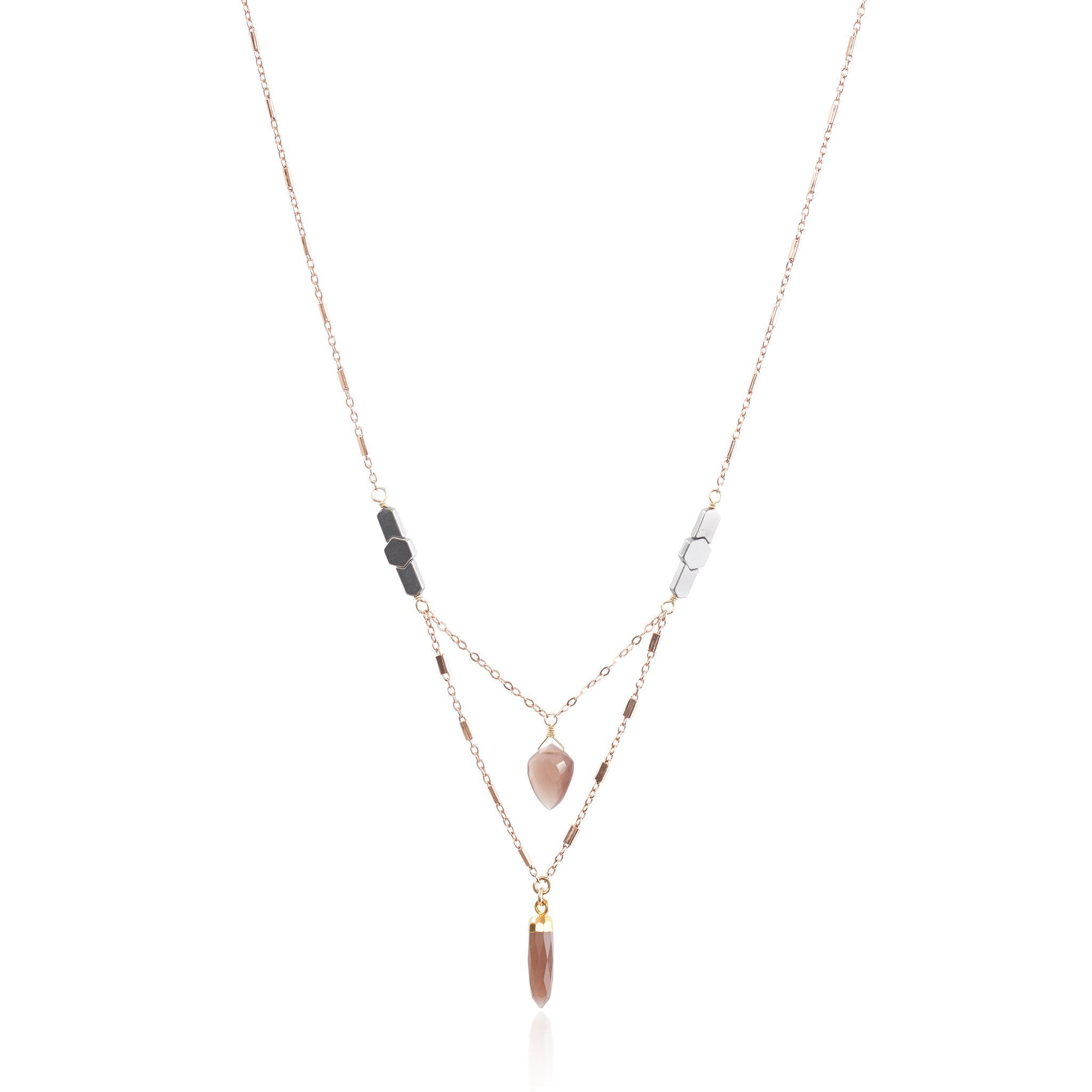Harriet Necklace Short (Rose Gold)