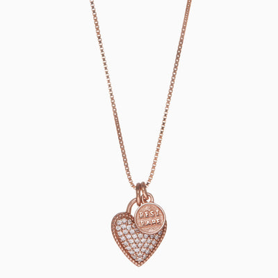Rose Gold Bestie Necklace + Charm