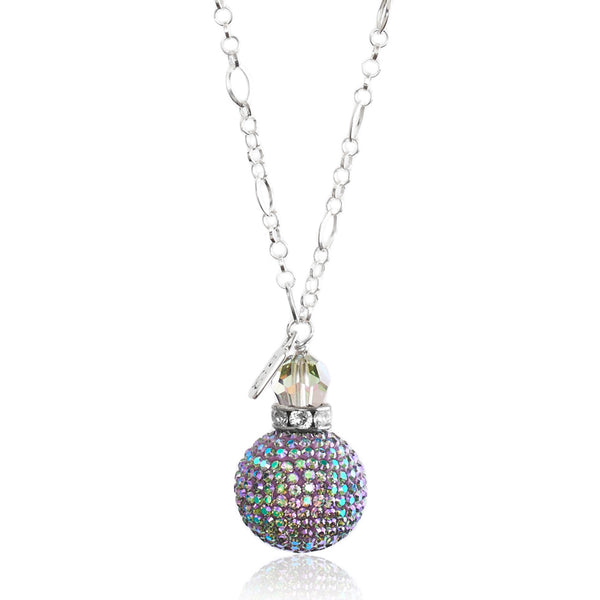 Peacock Sparkle Ball Pendant