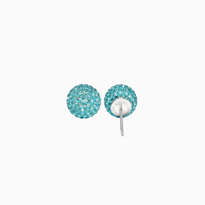 Cyan Blue Sparkle Ball™ Stud Earrings