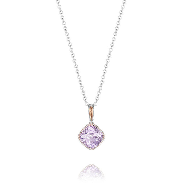 Lilac Blossoms Pavé Bloom Pendant - SN176P13