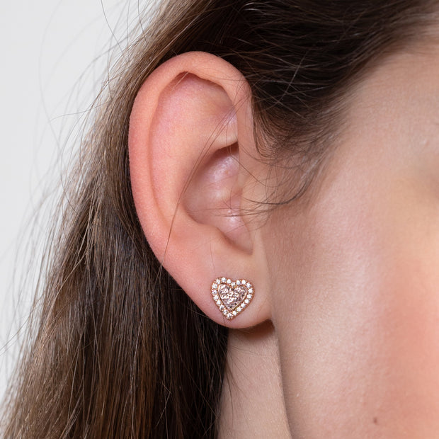 Sparkle Sweetheart Halo Earrings