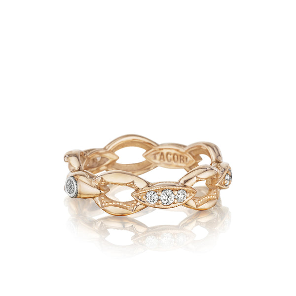 The Ivy Lane Pavé Crescent Links Ring - SR184P