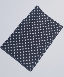 Black and White Polka Dot Face Protector-Face Mask