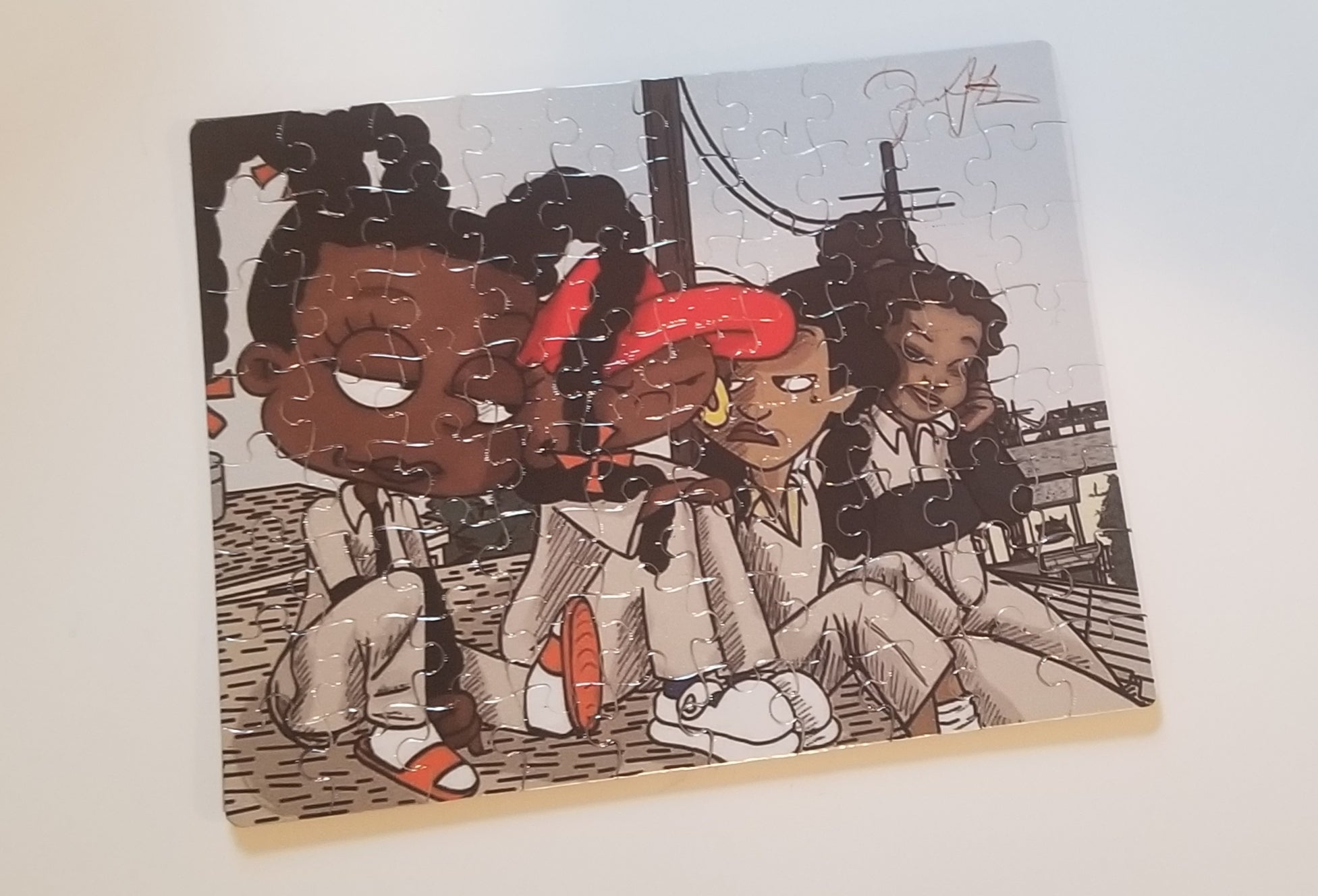 Black Girl Cartoon Character Puzzle