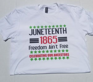 Kids Juneteenth Tee-Celebrating Freedom Tee-Juneteenth-For the Culture-African American Culture