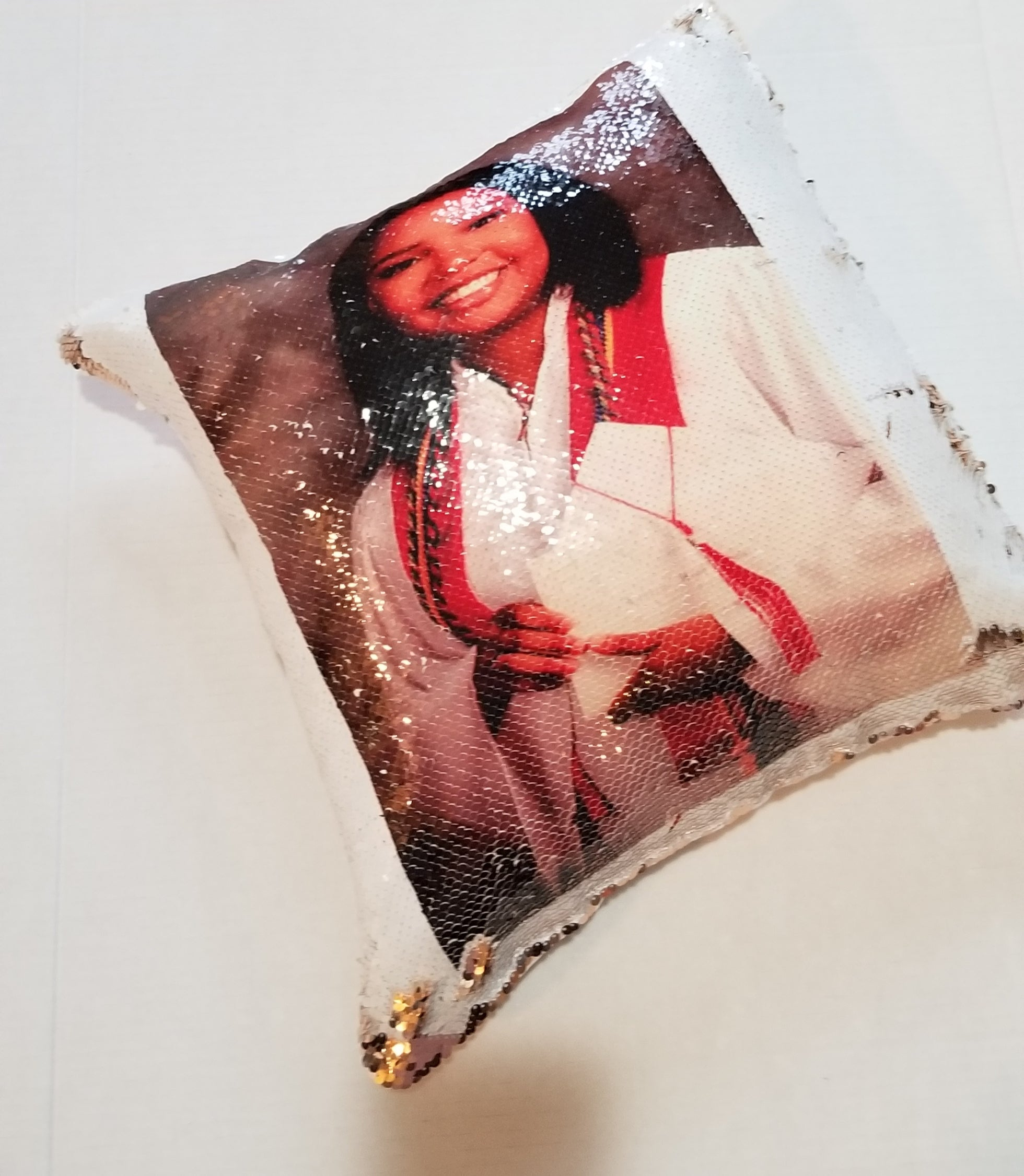 Personalized Sequin Pillow-Custom Pillow-Photo Pillow