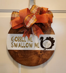 Thanksgiving Wood Door Hanger