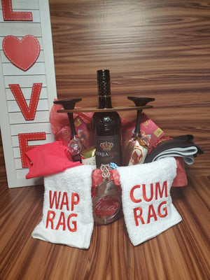 Couples Valentines Day Basket