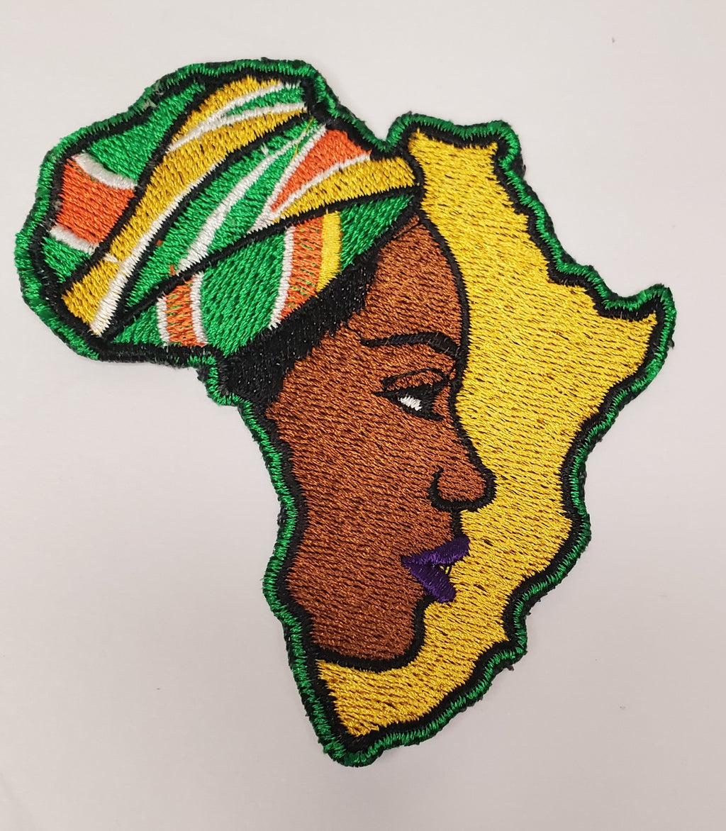 Face of Africa Iron On Patch
